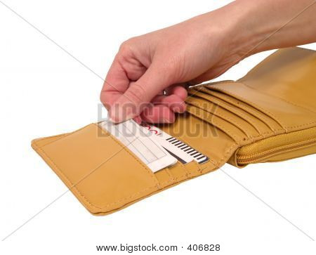 Wallet With Card-clipping Path