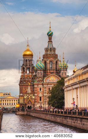 Savior On Blood Cathedral In St. Petersburg, Russia