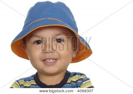 One-Year-Old Boy With Blue Hat