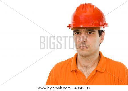 Engineer In Orange Shirt