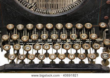 Vintage typewriter closeup