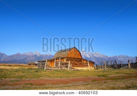 Old Mormon barn in Grand Tetons