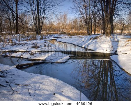 Winter Blue Stream