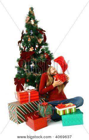 Girl And Gift