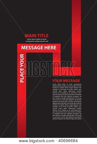 Paper Folding Vector Layout Design