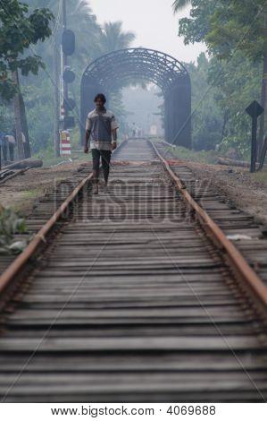 Walking Train Tracks