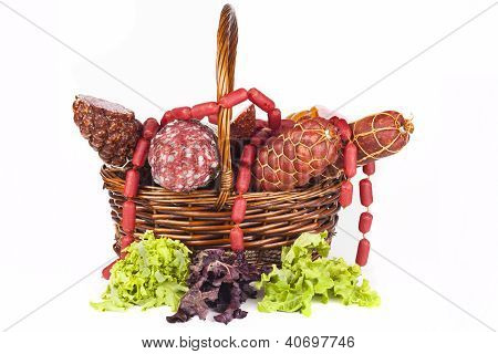 Salami In Basket