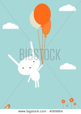 Bunny Balloon Flying.