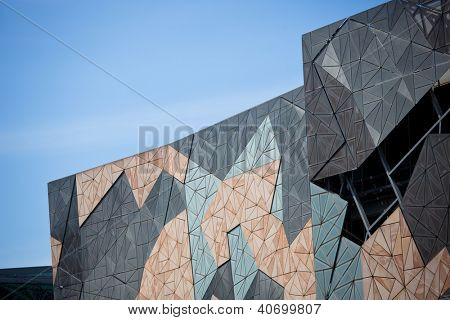 MELBOURNE, AUSTRALIA - OCTOBER 29: Iconic Federation Square celebrated 10 Years since opening on 26 October 2002. It had more than 9 million visits in 2011 - 29 October 2012, Melbourne Australia