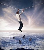 stock photo of dizzy  - Concept of difficult and risk in business affairs - JPG