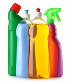 picture of detergent  - Detergent bottles isolated on white background - JPG