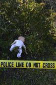 foto of pedophilia  - Crime scene in the forest - JPG