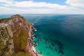 stock photo of breath taking  - View Into The Abyss From Cape Point - JPG
