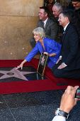 LOS ANGELES - JAN 3:  Chamber officials, Helen Mirren, Jon Turteltaub, David Mamet at the Hollywood