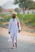 Indian Countryman In Traditional White Cloth