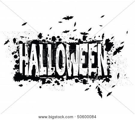 Halloween Grunge Silhouette Background