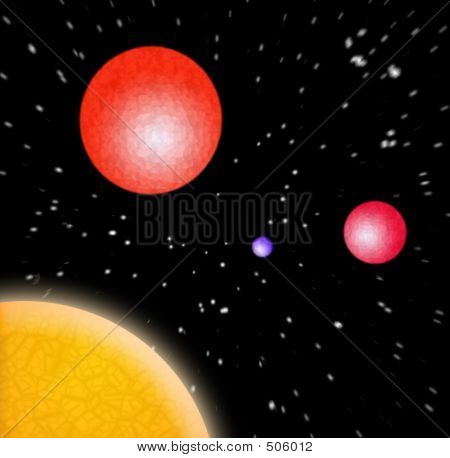 3d Planets In Space