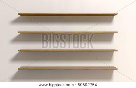 Four Shelves On A Wall