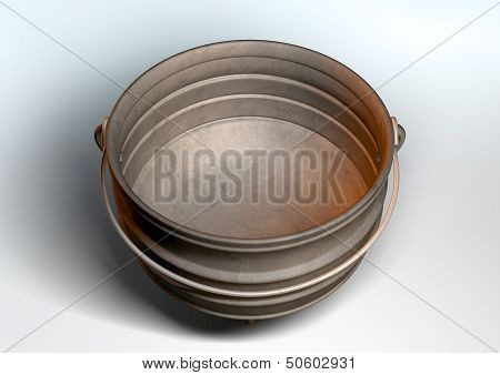 South African Potjie Pot Inside Empty