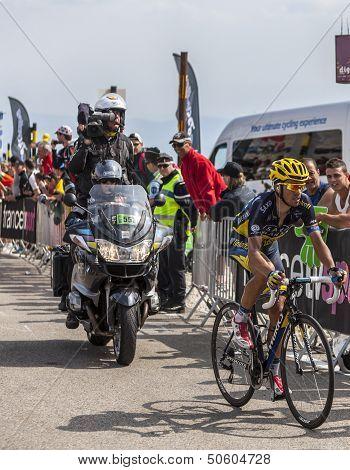 The Cyclist Alberto Contador On Mont Ventoux
