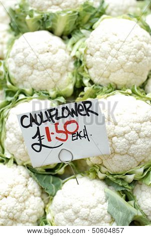 Fresh Cauliflowers For Sale