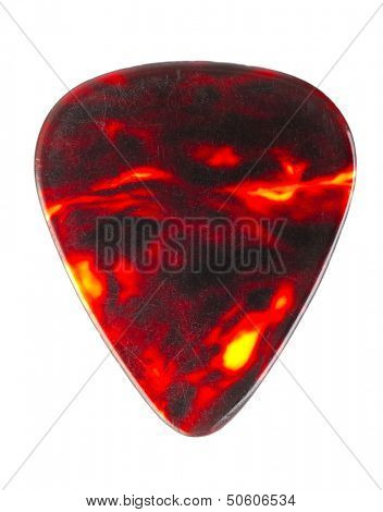 Guitar pick isolated on white background