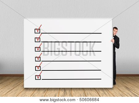 Concrete Wall  With Checklist