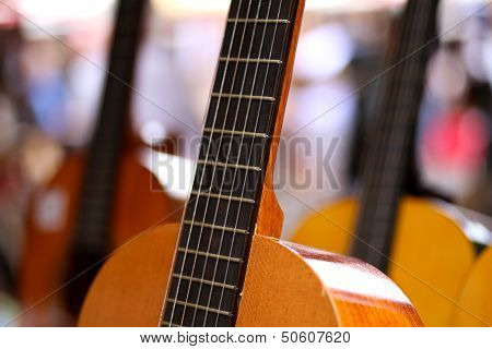 Old Wooden Acoustic Guitars