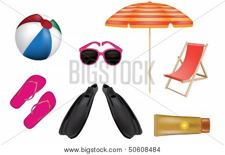 Summer Color Vector Icons