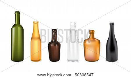 Set Of Vector Bottles