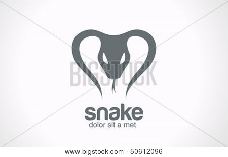 Snake silhouette vector logo design template. Tattoo style. Reptile poison concept icon.