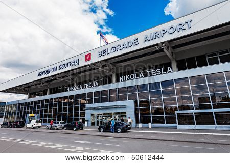 Nikola Tesla Airport, Belgrade, Serbia.