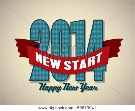 Happy New Year 2014, vector illustration