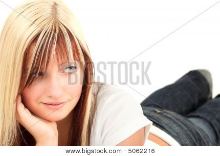 Young Girl Laying Down