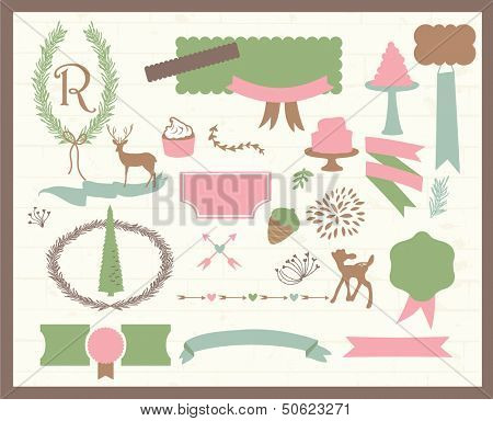 Cute scrapbook elements