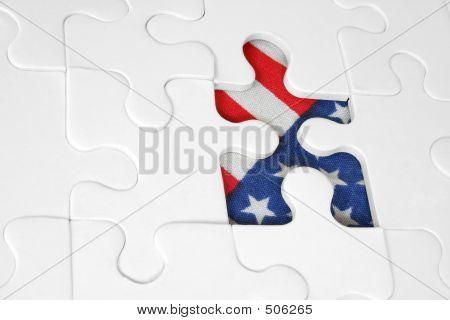 Bandera americana Jigsaw