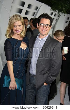 LOS ANGELES - SEP 10:  Alice Eve, JJ Abrams at the