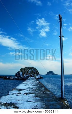 Icy Seawall