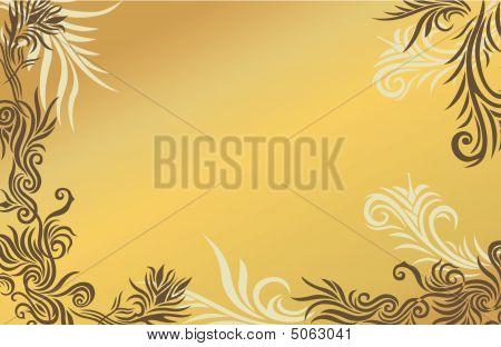Sand Floral Background