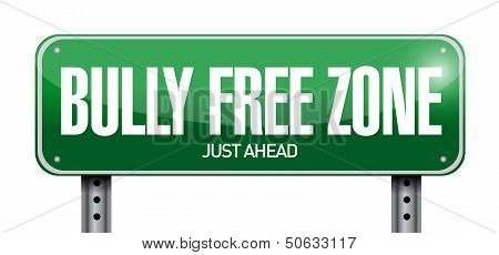 Bully Free Zone Road Sign Illustration Design
