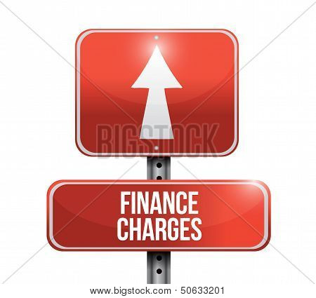 Finance Charges Road Sign Illustration Design
