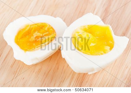Eggs On Wooden Board