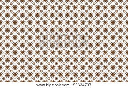 Apple and Flower Talavera Tile Wallpaper