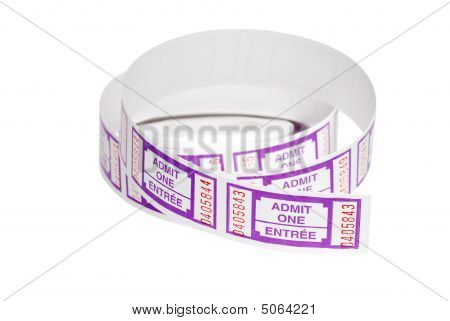 Roll Of Purple Tickets