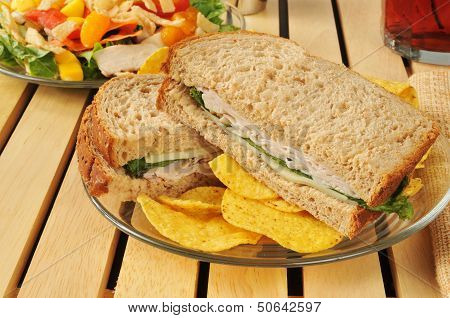 Turkey And Swiss Cheese Sandwich