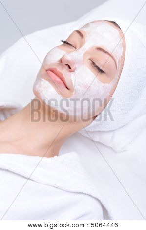 Relaxation Of Young Beautiful Girl In The Spa Salon