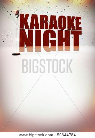 Karaoke Music Poster