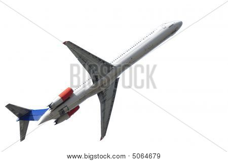 Airliner On White Backgrund