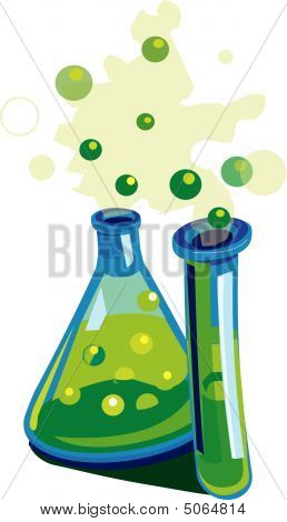 Bubbling Beaker And Test Tube