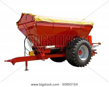 Trailed spreader fertilizer